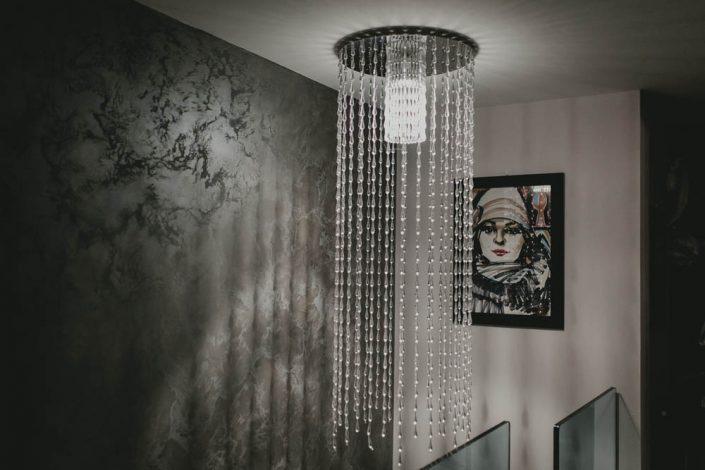 lampadario cristallo moderno ancona