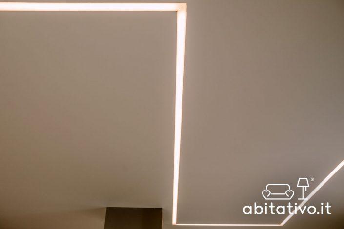 progetto luci soffitto casa ancona