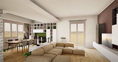 progetto open space pierdominici casa