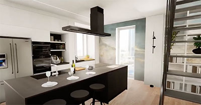 isola cucina design ancona